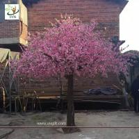 China UVG garden wedding decorations fake blossom tree with pink peach flowers 3 meters height CHR154 wholesale