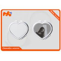 China Heart Shape Personalised Compact Mirror / Foldable Personalised Pocket Mirror wholesale
