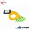 China 1x32 PLC Fiber Optic Splitter Splice Pigtailed ABS Module 2.0mm SC/APC Single Mode wholesale