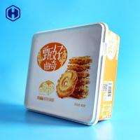 China Butter Cookie Square Plastic Food Storage Containers In Mold Labeling wholesale