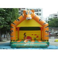 China Lovely Blow Up Kids Inflatable Tiger Jumping Castles for kids Inflatable Bouncy Castle Fun wholesale