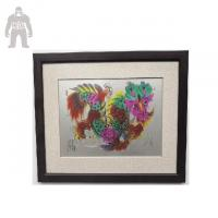 China Modern Framed Wall Art For Living Room Hand Work Wall Hanging Enamel Printing wholesale