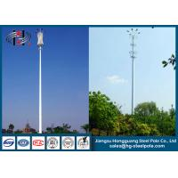 China Polygonal Self-supporting Steel Tubular Pole , Telecommunication Pole wholesale