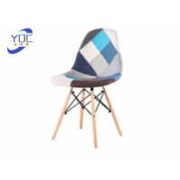 China Modern European Style Coffee Shop Chairs Patchwork Fabric wholesale
