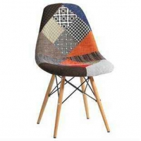 China Kitchen Eames Molded Plastic Side Chair With Beech Wood Legs wholesale