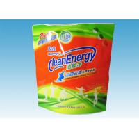 China Custom Printed Stand Up Pouches , washing powder packaging bags With Three Handles wholesale