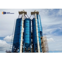 China Bolted Type Lime 7.6m Cement Storage Silo With Pressure Safety Valve wholesale