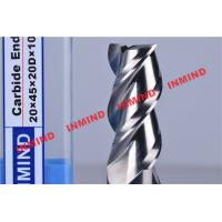 China HRC50 End Mill Bits For Aluminum 3 Flute No Coating Grain Size 0.8 um Bright Surface wholesale