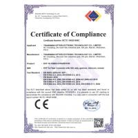 shenzhen BY optoelectronic technology co.,LTD Certifications