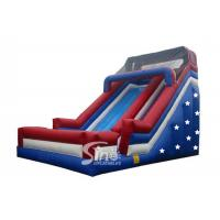 China Patriotic giant stars inflatable slide for children wholesale