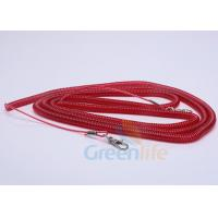 China Elastic Fishing Boat Kayak Paddle Leash Red Safety With 2 Quick Release Snaps wholesale