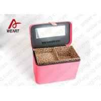 Leopard Printed Cosmetics Foldable Paper Box With Mirror Matte Lamination Suface