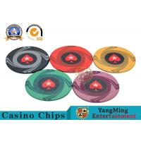 China Round Plastic Ceramic Blank Casino Poker Chips Sets , Colorful Polyspectra Chip wholesale