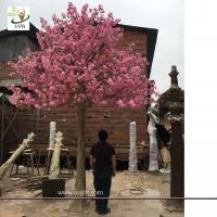 China UVG wedding party favors fake cherry tree with silk cherry blossom flowers for church decorations CHR165 wholesale