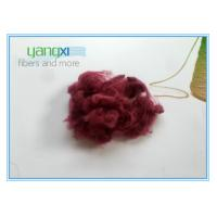 Quality Red Dyed Staple Fiber Polyester 1.5D * 38MM With Semi Dull Luster for sale