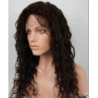 China Unprocessed 100% Indian Full Lace Human Hair Wigs kinky curly With Baby Hair wholesale