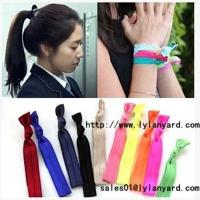 China Hair Tie Fashion Fold Over Elastic Hair Band wholesale
