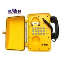 Quality Heavy Duty Weatherproof Telephone Ip66 Yellow with Aluminum Die Casting for sale