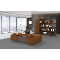 China 200cm Brown Office Desk With Storage , Modern Office Desk Return Extension Type wholesale