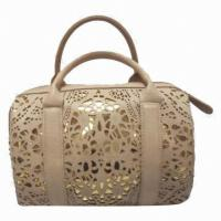 Quality Retro Trendy PU Leather Shoulder Bag , Fashionable Perforated Collection Bag for sale