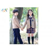 China Winter Custom School Uniforms Blazer Coat Long Sleeve For Girl And Boy wholesale