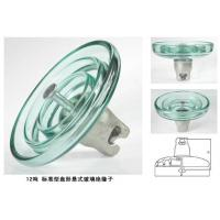China Disc Shaped High Voltage Glass Insulators Large Creepage Distance 320 - 490mm wholesale