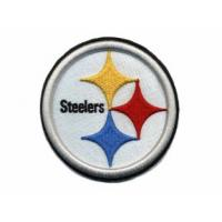 Quality 3D Puff embroidery digitizing NFL Pittsburgh Steelers with Iron on and laser boders for sale