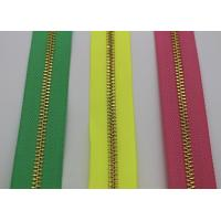 China Bright Color Tape 10 Inch Separating Zipper , Long Chain Coil Zipper By The Yard wholesale