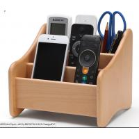 China Decorative Wood  Desk Organizer For Home Remote Controls / Phone wholesale