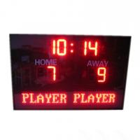 China Electronic Team name In Red  Color LED Football Scoreboard With Waterproof Cabinet wholesale