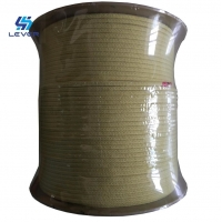 China 5.5 X5.5mm Kevlar Aramid Fiber Rope For Glass Tempering Furnace Rollers High Tensile Strength wholesale