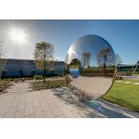 China Morden Highly Polished Stainless Steel Sculpture Torus For Lawn Featuring wholesale