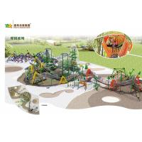 China Different Combinations Adventure Playground Equipment , Outdoor Playground Equipment wholesale