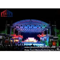 China High Loading Silver Aluminum Lighting Truss , Stage Truss System With Tuv  Certification wholesale