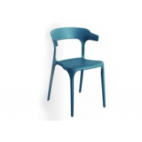 China Blue Classic Stackable Modern Plastic Outdoor Dining Chairs wholesale