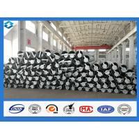 China 70FT 5mm Thick Q420 Galvanized and Black Tar Painted Electric Steel Poles wholesale