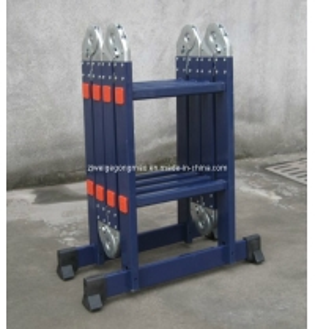 China Blue 8.2ft 4×2 Aluminium Scaffolding Ladder wholesale