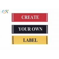 China Clothing Fabric Material Damask Custom Ribbons For Name Badges Standard Size wholesale