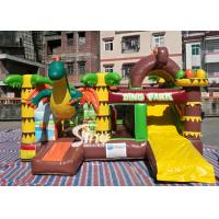 China Dinosaur Park Inflatable Bounce Slide Combo Jumping Castle With Slide For Inflatable Games wholesale