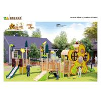 China Honeybee Theme Wooden Playground Slide Precision Machining Color Powder Coated wholesale
