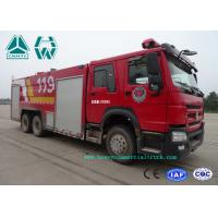 China Howo 266 Hp Emergency Rescue Fire Fighting Truck  6 X 4 With High Pressure Pump wholesale