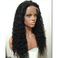 China Mixed Color 100% Peruvian glueless human hair full lace wigs With Combs / Straps wholesale