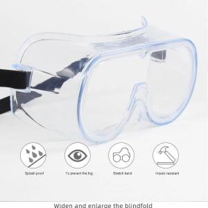 China coronavirus protective anti virus eye glassed, protective goggles Anti-Fog Protective Safety Glasses wholesale