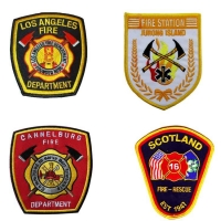 China 9 Colors 228.6mm Custom Fire Department Patches For Dressing wholesale