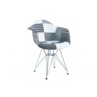 China Ergonomic Simple Modern 82cm Patchwork Fabric Armchair For Dining Room wholesale