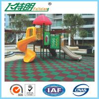 China Kindergarten / Park Rubber Playground Mats 50 × 50 × 3 cm Recycled Rubberized Flooring wholesale
