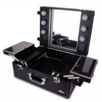 China Light Weight Aluminum Makeup Case With Mirror And Lights For Makeup Artists wholesale