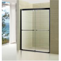 China Australian Standard Tempered Glass Sliding Door Glass Shower Enclosure with Stainless Steel Frame wholesale