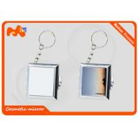 China Square Sublimation Metal Blanks Mirror , Colorful Compact Makeup Mirror wholesale