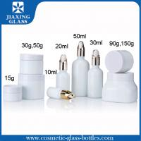 Quality Pure White Flat Glass Bottle Cosmetic Packaging With Glass Dropper For Skincare for sale